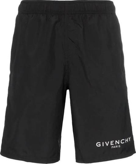 Givenchy Long logo swim shorts