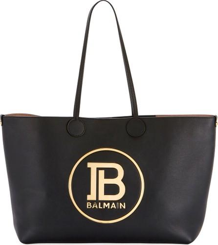 Balmain Smooth Medium Shopping Tote Bag
