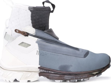 11 By Boris Bidjan Saberi High-top stained sneakers