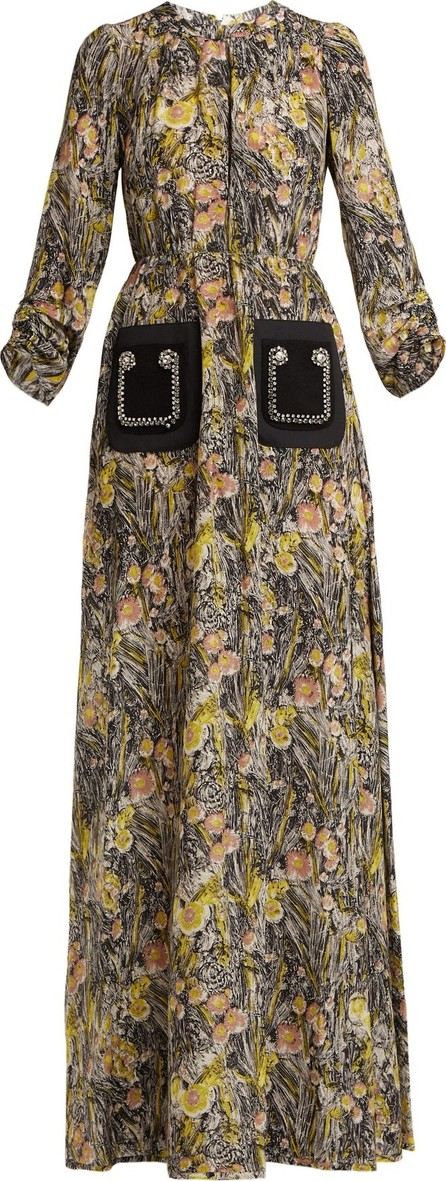 Nº21 Floral-print silk-crepe dress