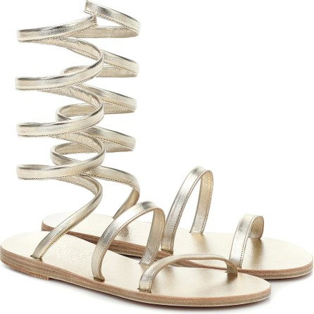 Ancient Greek Sandals Ofis metallic leather sandals