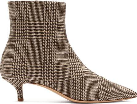 Giuliva Heritage Collection Point-toe tweed ankle boots