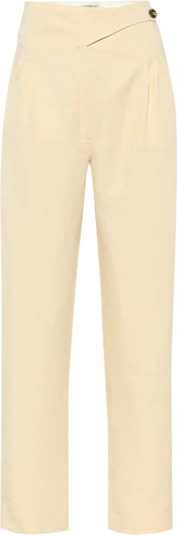 Blazé Milano Basque linen and silk high-rise pants