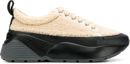 Stella McCartney Faux-shearling oversized sneakers