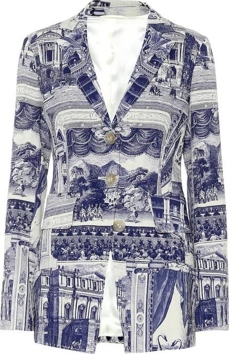 Acne Studios Julia printed linen-blend jacket