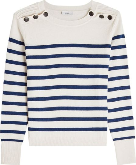 Closed Striped Wool Pullover