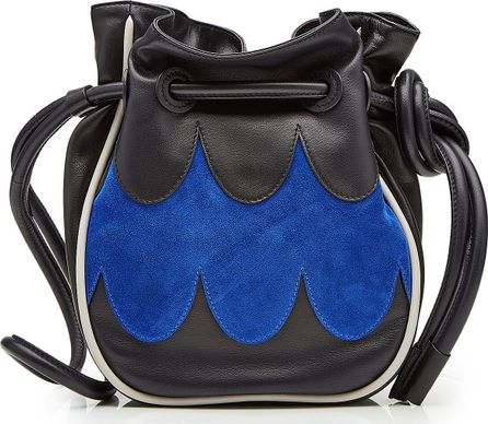 Marni Drawstring Bag with Leather and Suede