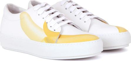 Acne Studios Adriana Banana printed leather sneakers