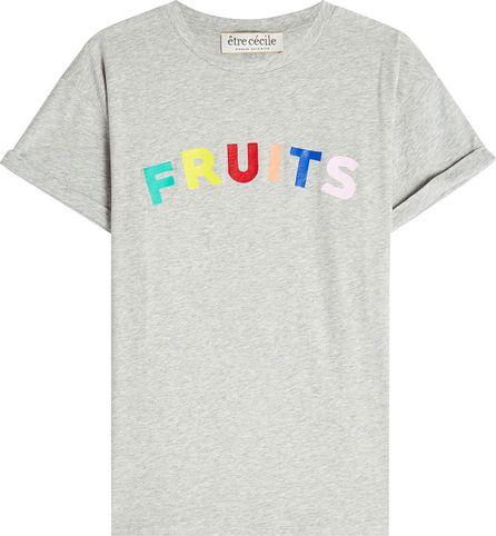 Etre Cecile Fruits Printed Cotton T-Shirt