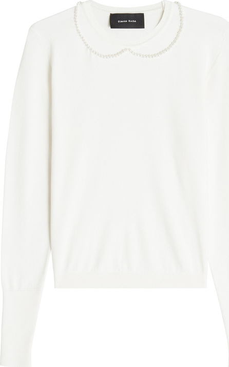 Simone Rocha Pullover with Pearl-Embellished Neckline
