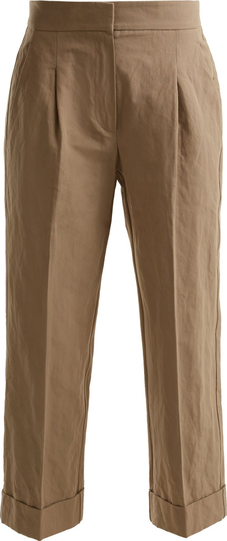 Brunello Cucinelli Straight-leg cropped cotton-blend chino trousers