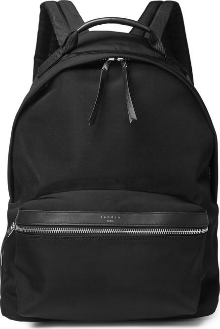 Sandro Leather-Trimmed Ballistic Nylon Backpack