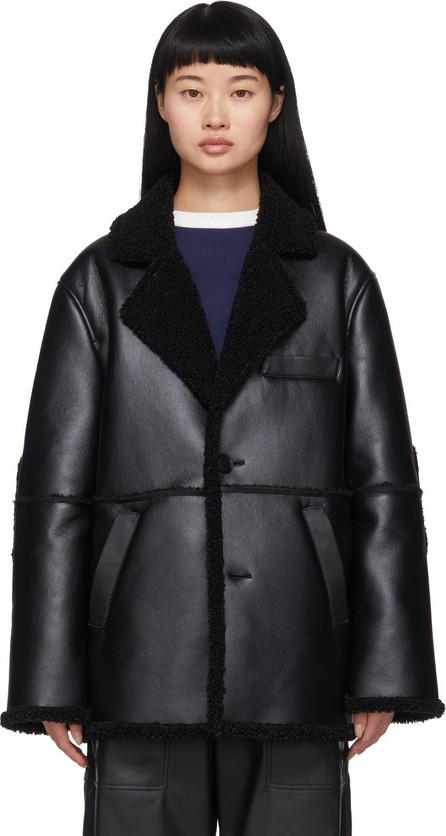 GR-Uniforma Black Faux-Sheepskin Coat