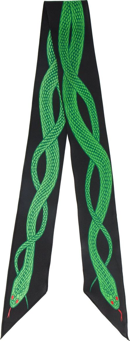 Rockins snake embroidered scarf