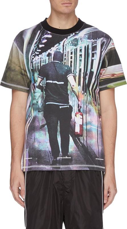 UNITED STANDARD 'Subway' photographic print T-shirt