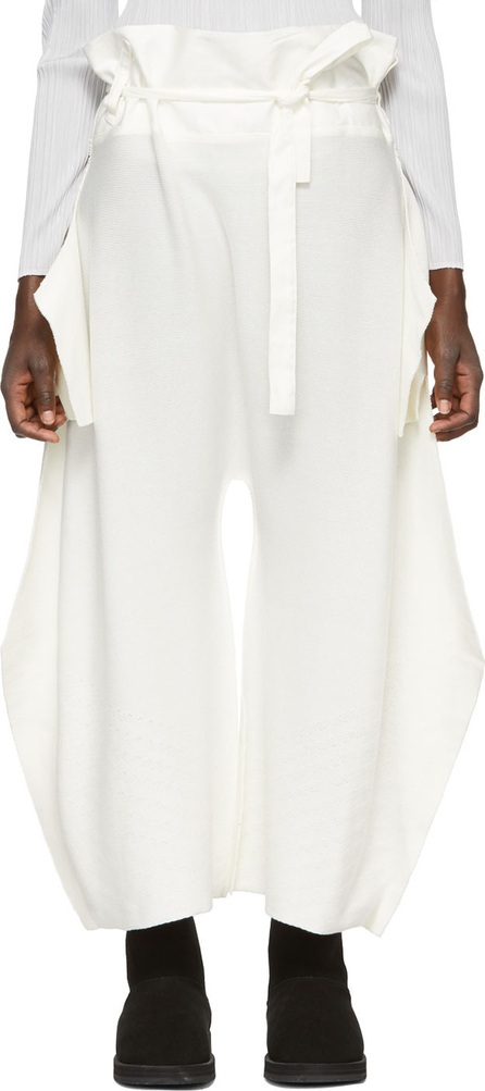 Issey Miyake White Knit Trousers