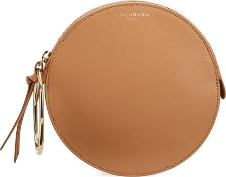 Sara Battaglia Round Leather Small Bracelet Bag