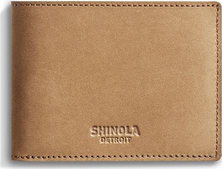 Shinola Men's Outrigger Slim Leather Bi-Fold Wallet