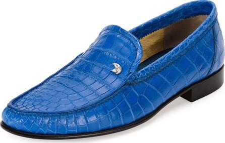 Stefano Ricci Classic Crocodile Leather Loafer, Blue