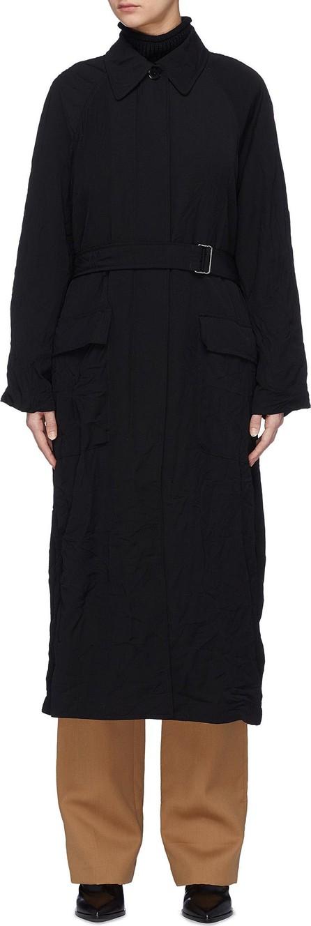 3.1 Phillip Lim Belted crinkled zip oversized trench coat