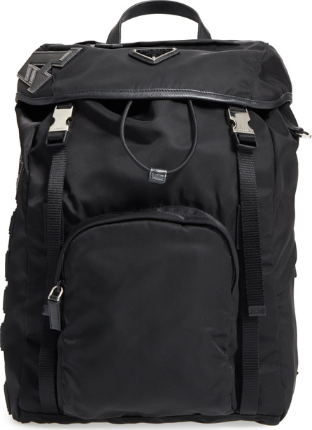Prada Tessuto Lettering Unisex Nylon Backpack