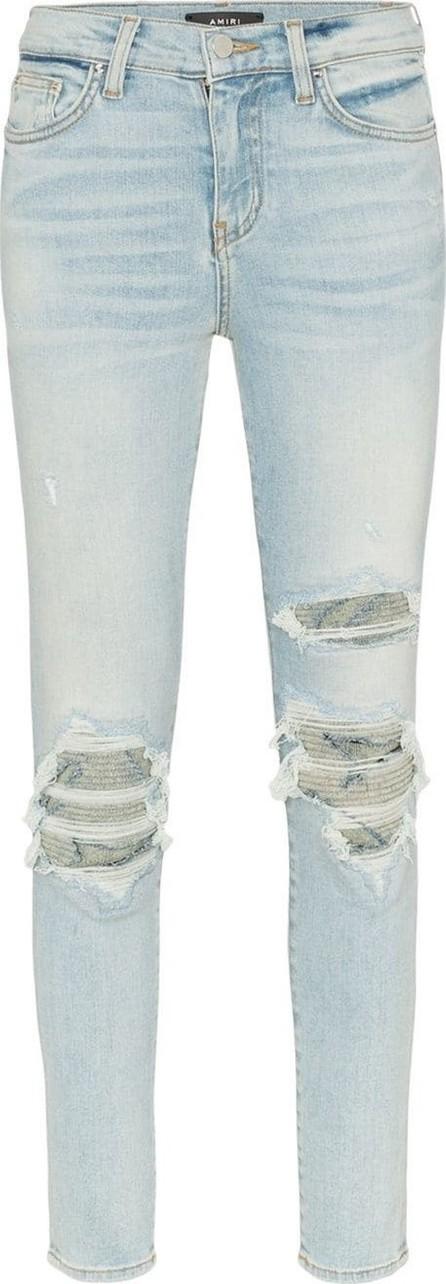 Amiri High-waisted distressed slim-fit jeans