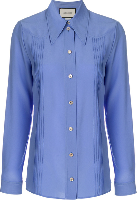 Gucci Silk point-collar shirt