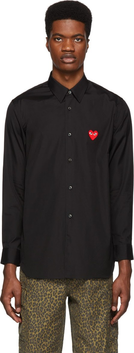 Comme Des Garcons PLAY Black Heart Patch Shirt