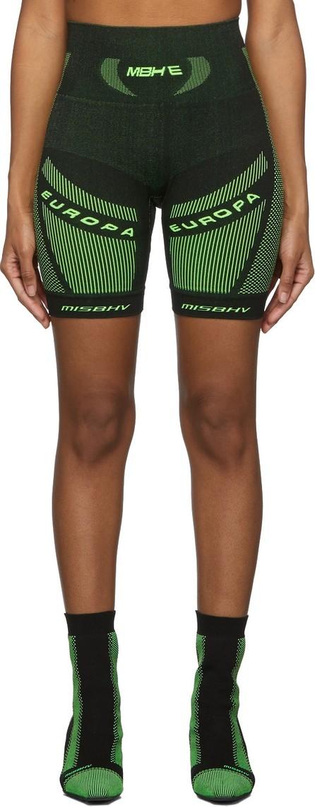 Misbhv Black & Green Active Future Shorts