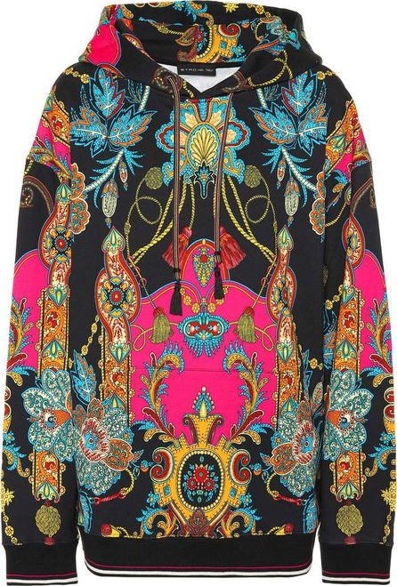 Etro Printed cotton hoodie