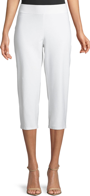 Eileen Fisher - Slim Crepe Capri Pants