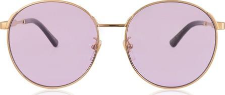 Gucci GG0206SK 006 Round-frame Metal Sunglasses