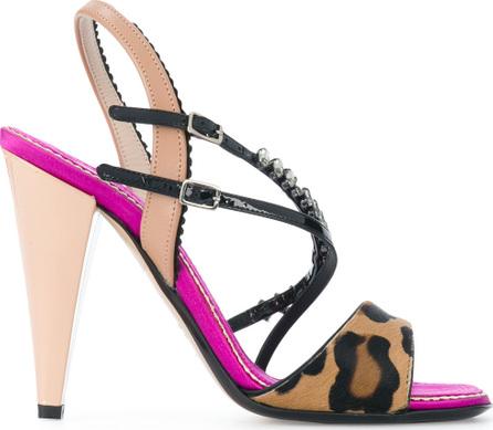 Nº21 Animal print heeled sandals