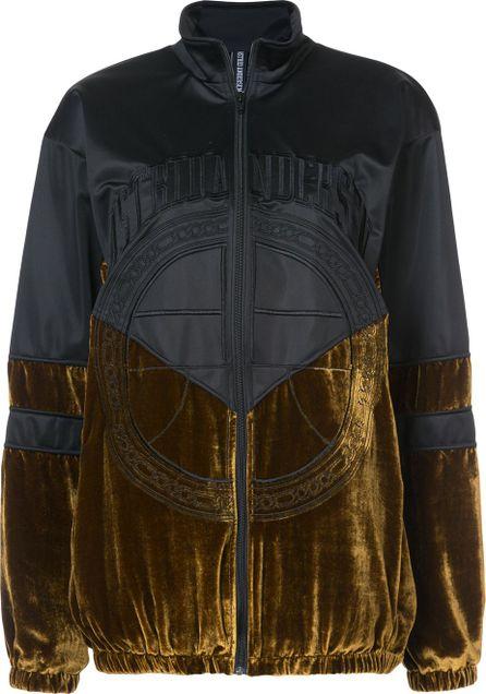 Astrid Andersen velour panel jacket