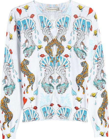 Mary Katrantzou Printed Cotton Cardigan
