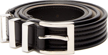Balmain Triple-loop leather belt