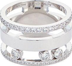 Messika 'Move Romane' diamond 18k white gold three row ring