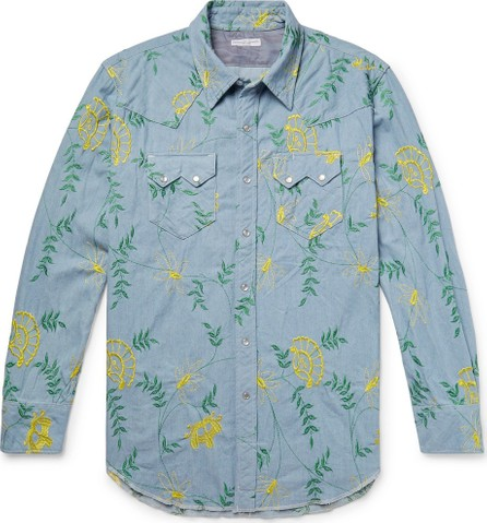 Engineered Garments Embroidered Cotton-Chambray Western Shirt