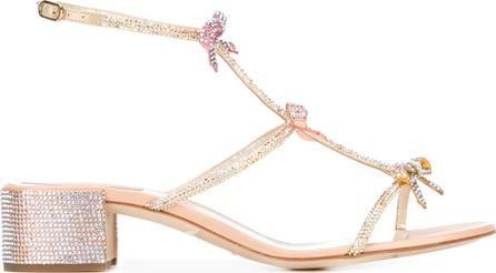 Rene Caovilla bow embellished sandals