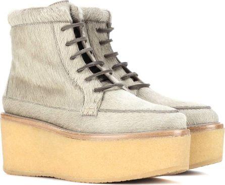 Gabriela Hearst Terrell calf hair platform ankle boots