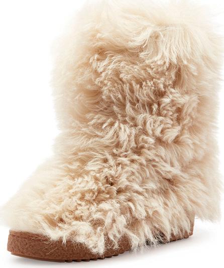 Saint Laurent Furry Lugged Booties