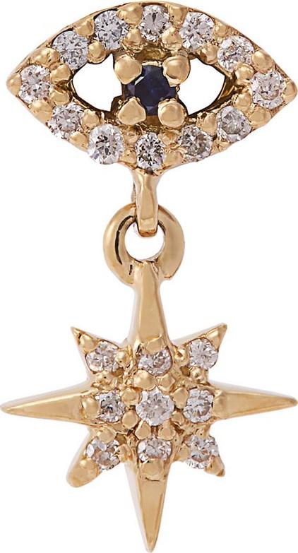 Ileana Makri Eye Star 18kt gold, sapphire and diamond earring