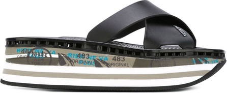 Premiata 'Mourar' print strappy platform sandals