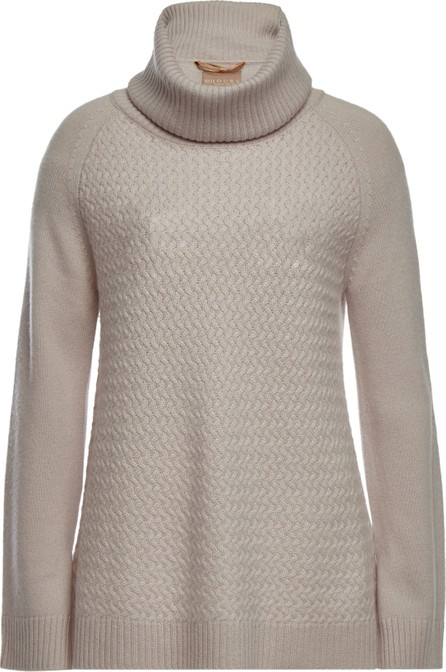 81hours Hattie Turtleneck Pullover in Superfine Wool and Cashmere