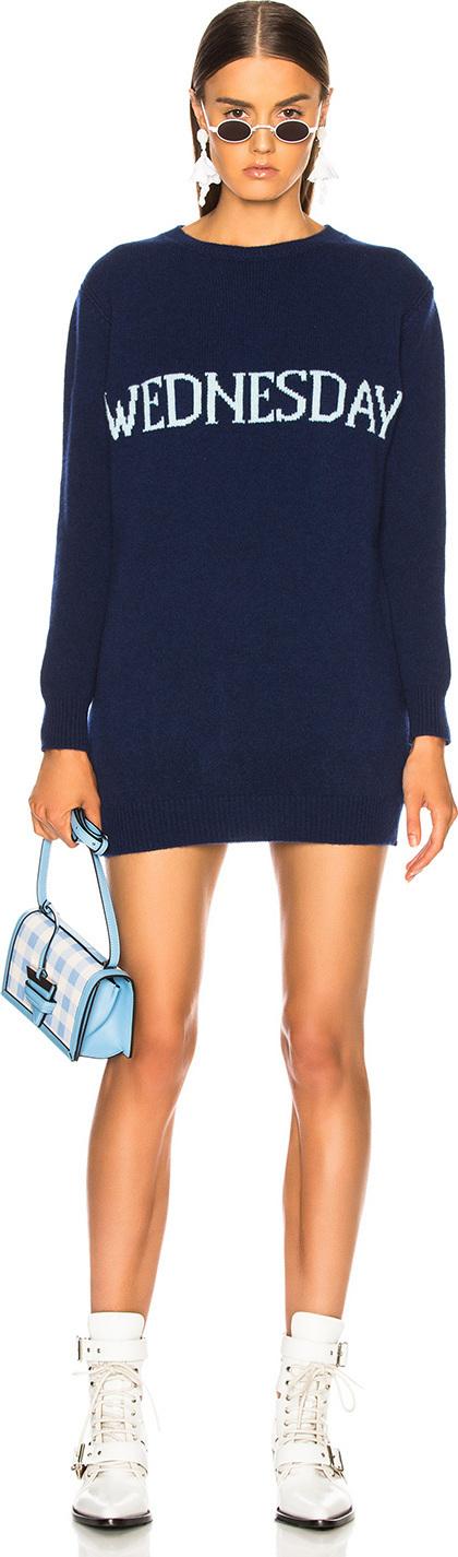 Alberta Ferretti Wednesday Crewneck Sweater Dress
