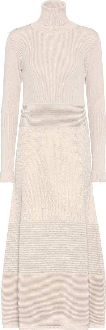 Agnona Wool-blend turtleneck sweater dress