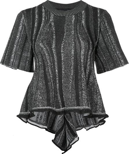 Proenza Schouler Embroidered short-sleeve sweater