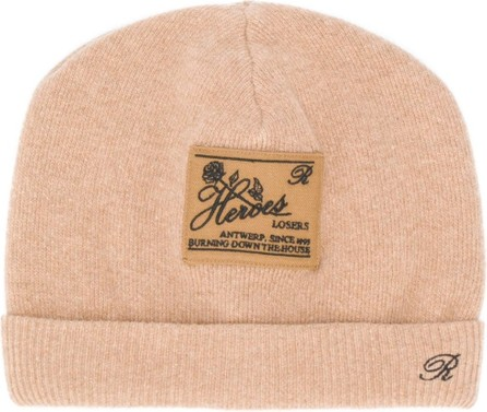 Raf Simons Heroes Losers patch beanie hat