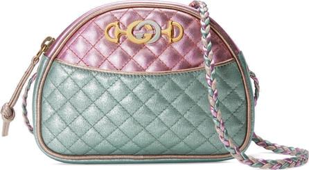 Gucci Quilted Metallic Dome Crossbody Bag