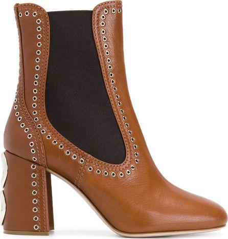 Miu Miu eyelet-embellished ankle boots